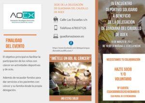 Triptico Exterior IV Encuentro Deportivo Solidario
