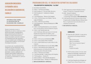 Triptico Interior IV Encuentro Deportivo Solidario